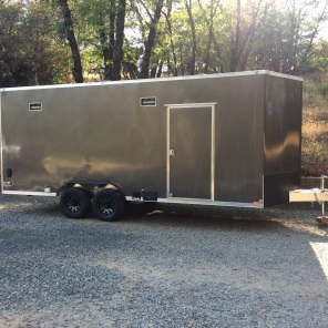 Enclosed trailer with 2 flex panels = 200watts (.2kw)